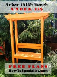 Pergola Diy Plans by How To Build A Garden Arbor With Bench Howtospecialist How To