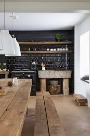 cuisine originale en bois étagères ouvertes dans la cuisine 53 idées photos