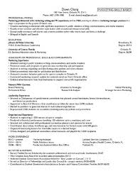 mba marketing resume format resume template free
