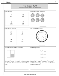 five minute math review worksheets from the teacher u0027s guide