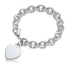 tiffany heart bracelet sterling silver images Sterling silver tiffany style engravable bracelet jpg