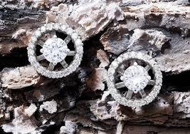 diamond studded diamond studded earrings jewelry