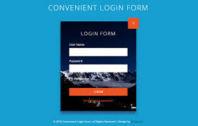Template For Login Form by Convenient Login Form Flat Responsive Widget Template