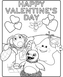happy valentines coloring free download