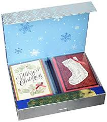 amazon com hallmark christmas boxed cards handmade card set 24