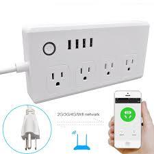 luxury power outlets wifi smart power strip socket with alexa weton multi plug timer