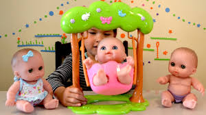 baby dolls swing play time triplets baby dolls bathtime how