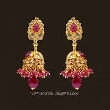 gold earrings design with weight new gold earrings south indian designs jewellry s website