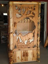 amish made cabinets pa handcarved buck log gun cabinet pa amish made many styles and