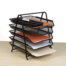 Paper Desk Organizer Mind Reader 5 Tier Steel Mesh Paper Tray Desk Organizer Reviews