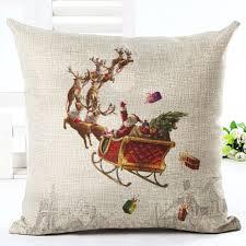 Home Decoration Gifts Christmas Xmas Santa Sofa Car Throw Cushion Pillow Cover Case Home