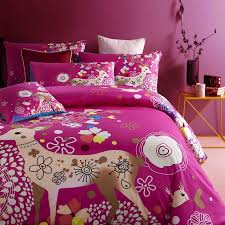 Girls Queen Size Bedding Sets by Purple And Beige Colorful Christmas Deer Chic And Cute Princess