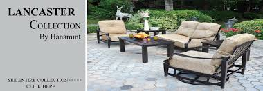 Discount Cast Aluminum Patio Furniture by View All Hanamint Lancaster Cast Aluminum Patio Furniture Sets