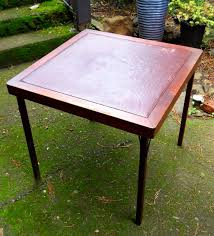 Wooden Folding Card Table Amazing Of Wooden Folding Card Table Vintage 1930s Mahogany Wood