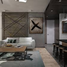 Awesome New York Style Apartment Interior Design With Open Plan - New york interior design style