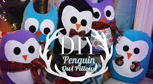 diy super cute penguin u0026 owl pillows easy gift ideas ann le