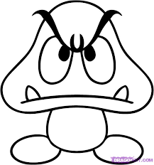 draw goomba step step video game characters pop