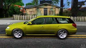 subaru station wagon green subaru legacy touring wagon 2003 for gta san andreas