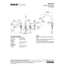 kohler faucet k 16109 4 cp revival polished chrome two handle with