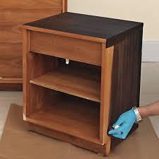 reviving a midcentury modern wooden nightstand martha stewart