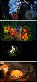 how to design garden lighting diy garden lighting glowing mushroom design ideas diy garden