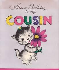 happy birthday to my favorite cousin vintage 1940s happy