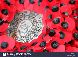 remembrance day poppy paper poppies wreath 11th november stock