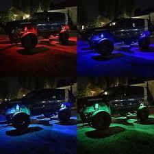 jeep wrangler rock lights pro kit multicolor 8 rgb rock lights for jeep wrangler jk tj wj xj