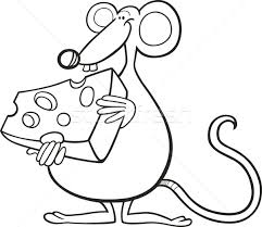 mouse cheese coloring book vector illustration igor
