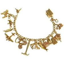 antique 14k gold charm bracelets 45 for sale at 1stdibs