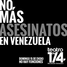 imagenes de venezuela en luto microteatro y teatro urban cuplé alzan la voz con el lema no más