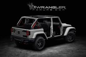 jeep rubicon all white 2018 jeep wrangler unlimited previewed in unofficial renders