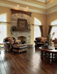 tuscan decorating ideas with wooden floor and fireplace also dark