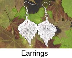 real leaf jewellery real leaf necklace real leaf earrings real
