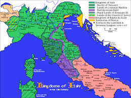 Italy Map Cities Before The Renaissance Northern Italy In The 12th Century Had A