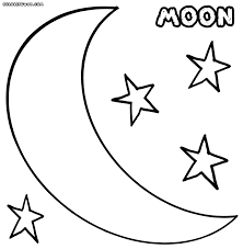 coloring pages of crescent moon coloring pages