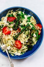 Best Pasta Salad Recipe by Mediterranean Strawberry Orzo Pasta Salad