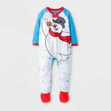 babys u0027 frosty snowman skates footed sleeper white target