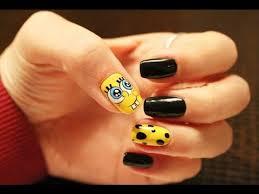 스폰지밥 젤네일 spongebob gel nail art youtube