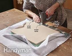 How To Cover A Chair Seat How To Reupholster A Chair Family Handyman