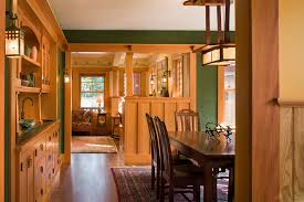 bungalow dining room ideas dining room craftsman with living room