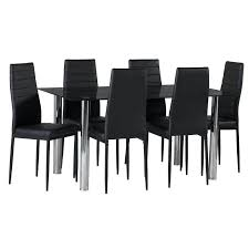 Glass Dining Tables And 6 Chairs Decfurn Glass Dining Table For 6 60 Inch Rectangular Glass Dining