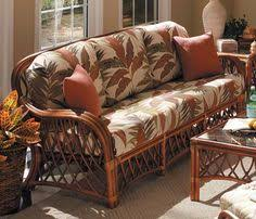 rattan sleeper sofa country living room with rattan sofa and floral fabric sofa