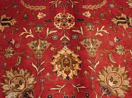 Signed Persian Rugs A Signed Persian Handmade Wool Tabriz Floral Firey Red Ivory