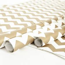gold chevron white wrapping paper by