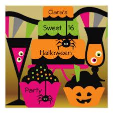 halloween cake cards invitations greeting u0026 photo cards zazzle