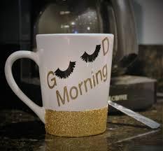 Funny Coffee Mug by Good Morning Coffee Mug Eye Lashes Coffee Mug Cute Coffee Mug