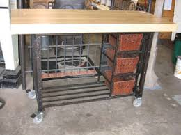 wrought iron kitchen island black salvage architectural antiques custom designs