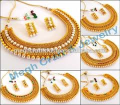 necklace sets wholesale images Wholesale south indian jewellery set one gram gold plated jpg