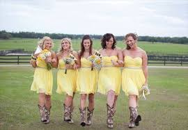 bridesmaid dresses with cowboy boots cheap wedding cowboy boots 100 rustic